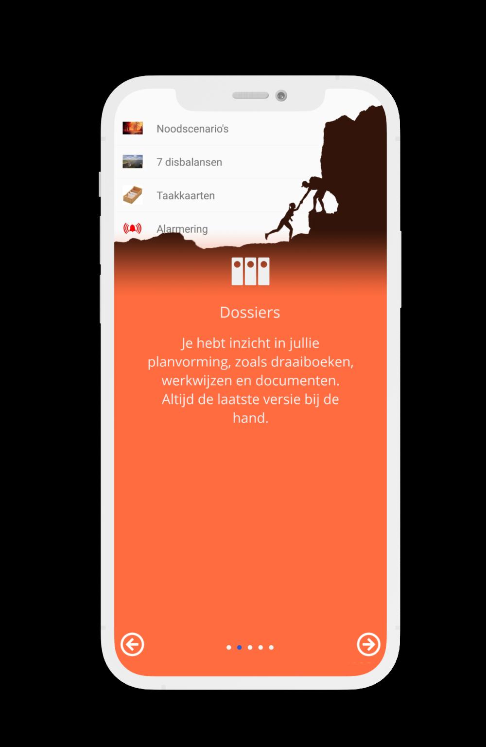 CrisisConnect app hulpscherm
